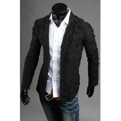 Turn-Down Collar  Solid Color Worn-Out Design Long Sleeve Mens CoatMens Jakets &amp; Coats<br>Turn-Down Collar  Solid Color Worn-Out Design Long Sleeve Mens Coat<br><br>Clothes Type: Jackets<br>Material: Cotton Blends<br>Collar: Turn-down Collar<br>Clothing Length: Regular<br>Style: Casual<br>Weight: 0.283KG<br>Sleeve Length: Long Sleeves<br>Season: Fall<br>Package Contents: 1 x Coat