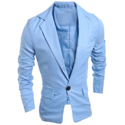 Elegant Pure Color Turn-Down Collar Long Sleeve Mens Single Breasted BlazerMens Blazers<br>Elegant Pure Color Turn-Down Collar Long Sleeve Mens Single Breasted Blazer<br><br>Material: Cotton Blends<br>Clothing Length: Regular<br>Closure Type: Single Breasted<br>Weight: 0.400KG<br>Package Contents: 1 x Blazer