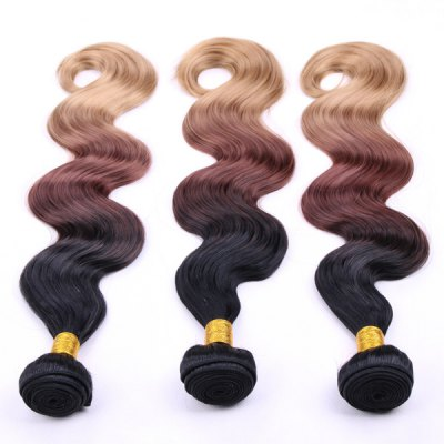 Trendy Body Wave Three Color Gradient 3 Pcs/Lot Long Synthetic Hair Weave For WomenHair Extensions<br>Trendy Body Wave Three Color Gradient 3 Pcs/Lot Long Synthetic Hair Weave For Women<br><br>Hair Extension Type: Hair Weft<br>Style: Wavy<br>Fabric: Synthetic Hair<br>Length: Long<br>Weight: 0.350KG<br>Package Contents: 3 x Hair Weave?Pieces?