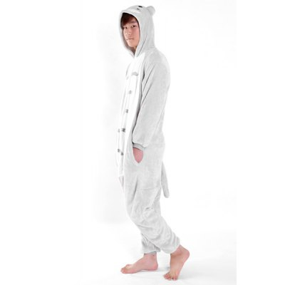 Hooded Cartoon Totoro Costume Long Sleeve One-Piece Flannel Sleepwear For MenMens Underwear &amp; Pajamas<br>Hooded Cartoon Totoro Costume Long Sleeve One-Piece Flannel Sleepwear For Men<br><br>Material: Cotton,Polyester<br>Fabric Type: Flannel<br>Pattern Type: Character<br>Weight: 0.729KG<br>Collar: Hooded<br>Sleeve Length: Full<br>Package Contents: 1 x Sleepwear