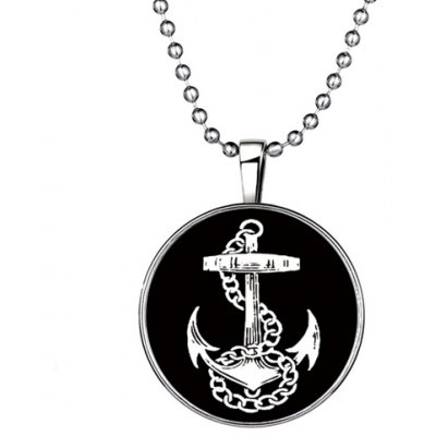 Chic Anchor Round Shape Noctilucent Pendant Necklace For Women