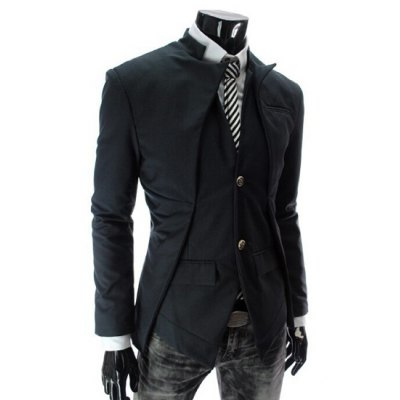 Stand Collar Splicing Design Faux Twinset Long Sleeve Blazer For MenMens Blazers<br>Stand Collar Splicing Design Faux Twinset Long Sleeve Blazer For Men<br><br>Material: Cotton,Polyester<br>Clothing Length: Regular<br>Closure Type: Single Breasted<br>Weight: 0.850KG<br>Package Contents: 1 x Blazer