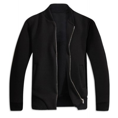 Stand Collar Rib Splicing Solid Color Long Sleeve Jacket For Men от GearBest.com INT