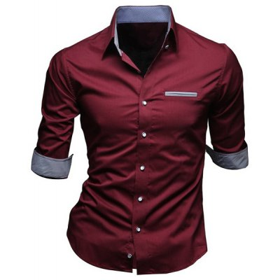 Turn-Down Collar Edging Design 1/2 Length Sleeve Shirt For MenMens Shirts<br>Turn-Down Collar Edging Design 1/2 Length Sleeve Shirt For Men<br><br>Shirts Type: Casual Shirts<br>Material: Cotton,Polyester<br>Sleeve Length: Full<br>Collar: Turn-down Collar<br>Weight: 0.550KG<br>Package Contents: 1 x Shirt