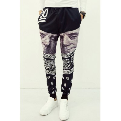 3D Character Portrait and Tribal Print Slimming Lace-Up Narrow Feet Jogger Pants For MenMens Pants<br>3D Character Portrait and Tribal Print Slimming Lace-Up Narrow Feet Jogger Pants For Men<br><br>Style: Fashion<br>Material: Cotton Blends<br>Fit Type: Regular<br>Waist Type: Mid<br>Closure Type: Drawstring<br>Front Style: Flat<br>With Belt: No<br>Weight: 0.750KG<br>Pant Length: Long Pants<br>Pant Style: Pencil Pants<br>Package Contents: 1 x Pants
