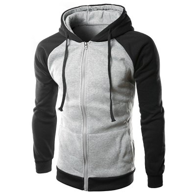 Slim Fit Long Sleeves Color Block Zipper Hoodie For MenMens Hoodies &amp; Sweatshirts<br>Slim Fit Long Sleeves Color Block Zipper Hoodie For Men<br><br>Material: Cotton Blends<br>Clothing Length: Regular<br>Sleeve Length: Full<br>Style: Casual<br>Weight: 0.490KG<br>Package Contents: 1 x Hoodie