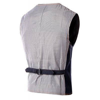 Slim Fit V-Neck Single Breasted Denim Waistcoat For MenWaistcoats<br>Slim Fit V-Neck Single Breasted Denim Waistcoat For Men<br><br>Material: Cotton Blends,Jeans<br>Style: Casual<br>Clothing Length: Short<br>Collar: V-Neck<br>Thickness: Standard<br>Closure Type: Single Breasted<br>Weight: 0.520kg<br>Package Contents: 1 x Waistcoat