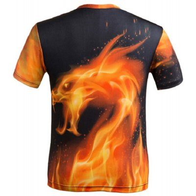 3D Fire Dragon Printed Round Neck Short Sleeve T-Shirt For MenMens Short Sleeve Tees<br>3D Fire Dragon Printed Round Neck Short Sleeve T-Shirt For Men<br><br>Material: Cotton,Polyester<br>Sleeve Length: Short<br>Collar: Round Neck<br>Style: Fashion<br>Weight: 0.450KG<br>Package Contents: 1 x T-Shirt<br>Pattern Type: Print