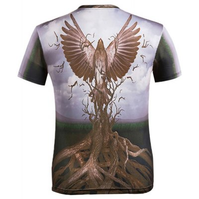 3D Eagle and Bole Printed Round Neck Short Sleeve T-Shirt For MenMens Short Sleeve Tees<br>3D Eagle and Bole Printed Round Neck Short Sleeve T-Shirt For Men<br><br>Material: Cotton,Polyester<br>Sleeve Length: Short<br>Collar: Round Neck<br>Style: Fashion<br>Weight: 0.450KG<br>Package Contents: 1 x T-Shirt<br>Pattern Type: Animal
