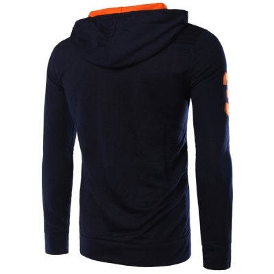 Number Applique Fawn Embroidered Hit Color Hooded Long Sleeves Hoodie For MenMens Hoodies &amp; Sweatshirts<br>Number Applique Fawn Embroidered Hit Color Hooded Long Sleeves Hoodie For Men<br><br>Material: Cotton Blends<br>Clothing Length: Regular<br>Sleeve Length: Full<br>Style: Fashion<br>Weight: 0.850KG<br>Package Contents: 1 x Hoodie