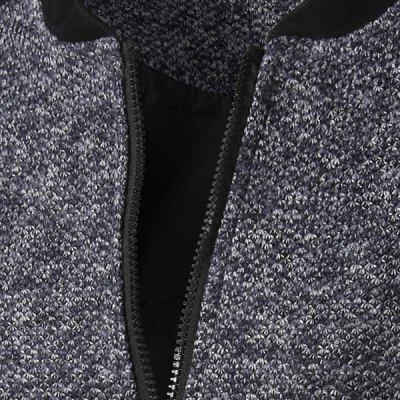 Casual Simple Style Stand Collar Zipper Splicing Jacket For Men