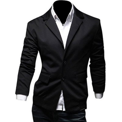 Lapel Long Sleeves Blazer
