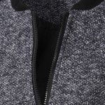 cheap Casual Simple Style Stand Collar Zipper Splicing Jacket For Men