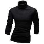Laconic Solid Color Long Sleeves Turtleneck T-Shirt For Men