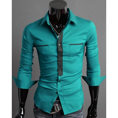 Classic Color Block Button Fly Double Pockets Shirt Collar Long Sleeves Shirt For MenMens Shirts<br>Classic Color Block Button Fly Double Pockets Shirt Collar Long Sleeves Shirt For Men<br><br>Shirts Type: Casual Shirts<br>Material: Cotton Blends<br>Sleeve Length: Full<br>Collar: Turn-down Collar<br>Weight: 0.450KG<br>Package Contents: 1 x Shirt