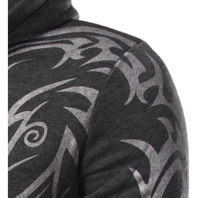 Fashion Hooded Personality Totem Print Long Sleeves Hoodie For Men