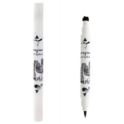 Stylish Black Waterproof Smudge-Proof Star Double-End Liquid Eyeliner Pencil