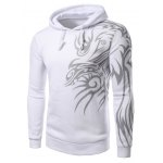 Buy White Fashion Hooded Personality Totem Print Long Sleeves Hoodie Men-16.18 Online Shopping GearBest.com