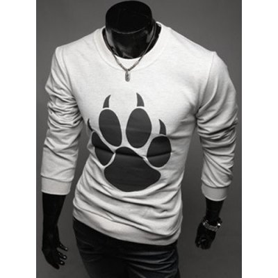 Round Neck Bears Paw Design Long Sleeve T-Shirt For MenMens Long Sleeves Tees<br>Round Neck Bears Paw Design Long Sleeve T-Shirt For Men<br><br>Material: Cotton,Polyester<br>Sleeve Length: Full<br>Collar: Round Neck<br>Style: Fashion<br>Pattern Type: Print<br>Season: Fall<br>Weight: 0.550kg<br>Package Contents: 1 x T-Shirt