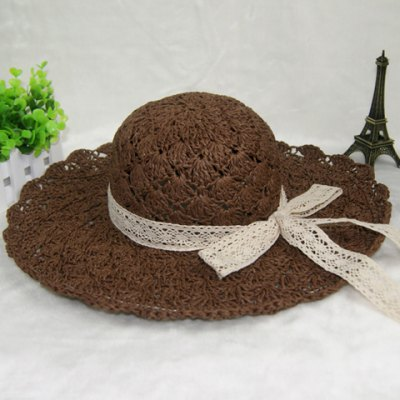 Stylish Lace Bowknot Handmade Crochet Straw Hat For WomenWomens Hats<br>Stylish Lace Bowknot Handmade Crochet Straw Hat For Women<br><br>Hat Type: Straw Hat<br>Group: Adult<br>Gender: For Women<br>Style: Fashion<br>Pattern Type: Solid<br>Material: Straw<br>Circumference (CM): 55CM-58CM<br>Weight: 0.210KG<br>Package Contents: 1 x Hat