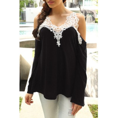 Sexy V-Neck Long Sleeve Cut Out Spliced Womens T-ShirtWomens T-Shirts<br>Sexy V-Neck Long Sleeve Cut Out Spliced Womens T-Shirt<br><br>Material: Polyester<br>Sleeve Length: Full<br>Collar: V-Neck<br>Style: Fashion<br>Pattern Type: Patchwork<br>Season: Spring,Summer<br>Weight: 0.230KG<br>Package Contents: 1 x T-Shirt
