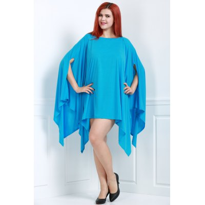 Stylish Solid Color 1/2 Batwing Sleeve Asymmetric Loose Dress For WomenWomens Dresses<br>Stylish Solid Color 1/2 Batwing Sleeve Asymmetric Loose Dress For Women<br><br>Material: Nylon<br>Fabric Type: Batik<br>Clothing Length: Regular<br>Sleeve Length: Full<br>Collar: Round Neck<br>Style: Active<br>Pattern Type: Face<br>Weight: 0.553KG<br>Package Contents: 1 x Dress