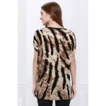Stylish Style Tiger Print Women's T-Shirt for sale