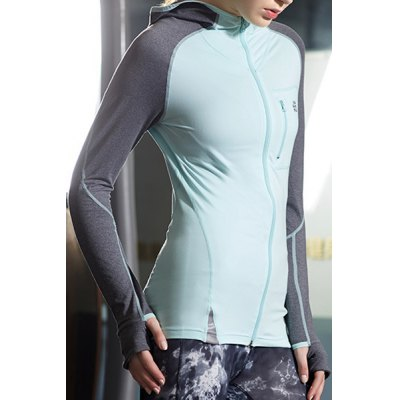 Active Hooded Long Sleeve Color Block Zippered Gym Hoodie For WomenSports Clothing<br>Active Hooded Long Sleeve Color Block Zippered Gym Hoodie For Women<br><br>Material: Polyester<br>Clothing Length: Regular<br>Sleeve Length: Full<br>Collar: Hooded<br>Pattern Type: Patchwork<br>Embellishment: Zippers<br>Weight: 0.285KG<br>Package Contents: 1 x Hoodie