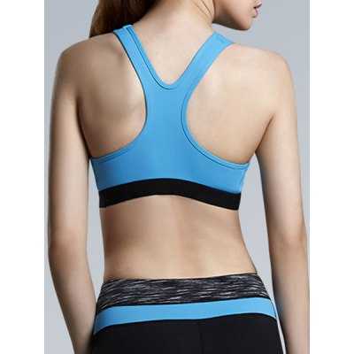 Stylish U-Neck Sleeveless Color Block Racerback Sports Bra For WomenSports Clothing<br>Stylish U-Neck Sleeveless Color Block Racerback Sports Bra For Women<br><br>Materials: Polyester<br>Bra Style: Seamless<br>Cup Shape: Full Cup<br>Support Type: Wire Free<br>Strap Type: Non-Convertible Straps<br>Closure Style: None<br>Pattern Type: Patchwork<br>Embellishment: None<br>Weight: 0.140KG<br>Package Contents: 1 x Sports Bra