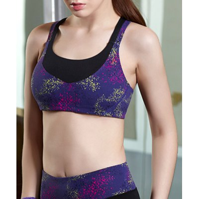 Stylish U-Neck Sleeveless Spliced Criss-Cross Sports Bra For WomenSports Clothing<br>Stylish U-Neck Sleeveless Spliced Criss-Cross Sports Bra For Women<br><br>Materials: Polyester<br>Bra Style: Seamless<br>Cup Shape: Full Cup<br>Support Type: Wire Free<br>Strap Type: Non-Convertible Straps<br>Closure Style: None<br>Pattern Type: Patchwork<br>Embellishment: None<br>Weight: 0.130KG<br>Package Contents: 1 x Sports Bra