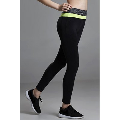 Stylish Elastic Waist Color Block Slimming Ninth Yoga Pants For WomenSports Clothing<br>Stylish Elastic Waist Color Block Slimming Ninth Yoga Pants For Women<br><br>Gender: For Women<br>Material: Polyester<br>Weight: 0.250KG<br>Package Contents: 1 x Pants