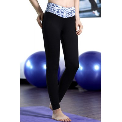Active High-Waisted Flocking Printed Ninth Yoga Pants For Women