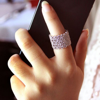 Dazzling Rhinestoned Multi-Layered Chunky Ring For Women free shipping xc3020 70pg84m new original and goods in stock