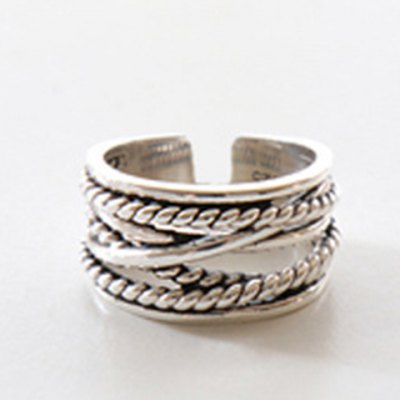 Vintage Twisted Chain Ring For Women