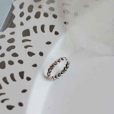 Vintage Woven Twisted Cuff Ring For Women
