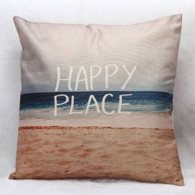 Stylish Beach Pattern Square Shape Pillow Case(Without Pillow Inner)