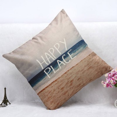 Beach Pattern Square Shape Pillow Case(Without Pillow Inner)