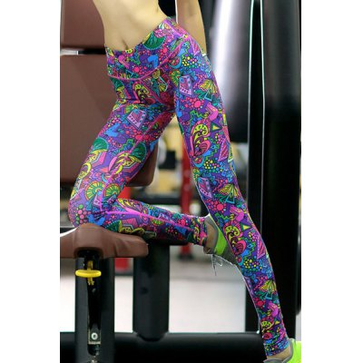 Trendy High Stretchy Printed Multicolor Womens Yoga PantsYoga<br>Trendy High Stretchy Printed Multicolor Womens Yoga Pants<br><br>Gender: For Women<br>Material: Polyester<br>Weight: 0.250KG<br>Package Contents: 1 x Pants