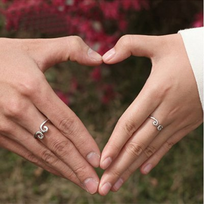 Pair of Graceful Solid Color Forbidden Love Ring For Lovers