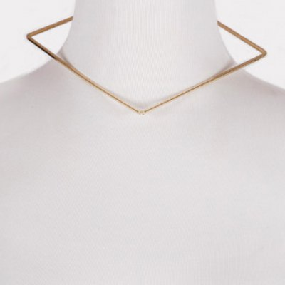 Punk Style Solid Color Geometric Necklace For Women