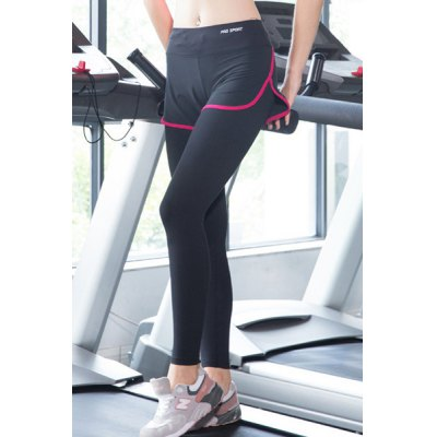 Chic High Stretchy Faux Twinset Slit Bodycon Womens Yoga PantsYoga<br>Chic High Stretchy Faux Twinset Slit Bodycon Womens Yoga Pants<br><br>Style: Active<br>Length: Ninth<br>Material: Polyester<br>Fit Type: Skinny<br>Waist Type: High<br>Closure Type: Elastic Waist<br>Pattern Type: Patchwork<br>Pant Style: Pencil Pants<br>Weight: 0.180KG<br>Package Contents: 1 x Ankle Pants