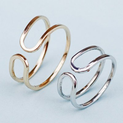 2PCS Layered Hollow Out Rings