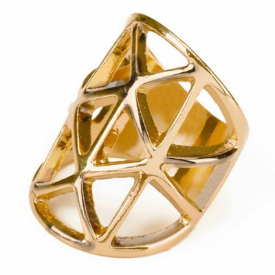 Geometric Hollow Out Ring