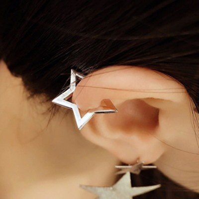 Pair of Adorable Hollow Out Star Shape Clip Earrings For Women