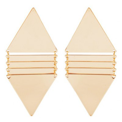 Pair of Punk Style Solid Color Triangle Earrings For Women