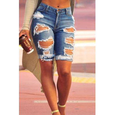 Stylish High Waist Ripped Slimming Denim Shorts For WomenWomens Leggings<br>Stylish High Waist Ripped Slimming Denim Shorts For Women<br><br>Style: Fashion<br>Length: Knee-Length<br>Material: Jeans<br>Fit Type: Skinny<br>Waist Type: High<br>Closure Type: Zipper Fly<br>Front Style: Flat<br>Pattern Type: Patchwork<br>Elasticity: Elastic<br>Weight: 0.420KG<br>Package Contents: 1 x Shorts
