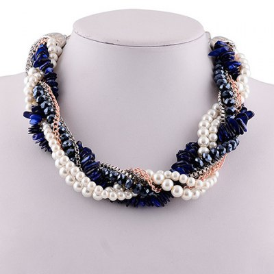 Retro Faux Pearl Beads Necklace