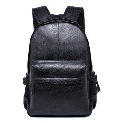 PU Leather Design Backpack For Men