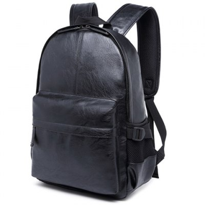 Leisure Zipper and PU Leather Design Backpack For Men