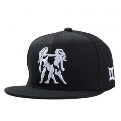 Person Embroidery Black Baseball Cap For Men